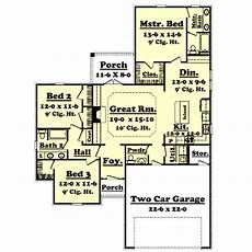 1600 square foot house plans country style house plan 3 beds 2 00 baths 1600 sq ft