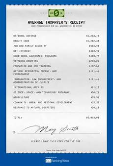 how federal income tax is spent tax receipt by