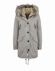 no 8 damen kunstfell parka creek 316 grey