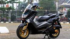 Modifikasi Nmax 2019 by Modifikasi Motor Modifikasi Nmax Hitam Gold