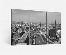 Leinwandbilder Schwarz Weiß - leinwand 3 tlg hamburg schwarz wei 223 stadt skyline bilder