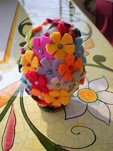 fiori in panno perline e bottoni pasqua