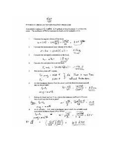 physics 12 kinematics worksheet 1 solutions