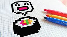 handmade pixel how to draw kawaii sushi pixelart