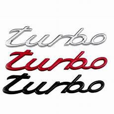 turbo letter stickers decals for porsche cayenne macan