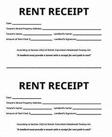 receipt for rent sle 7 exles in word pdf