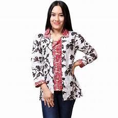 10 Model Batik Kerja Wanita Lengan Panjang Cantik 1000