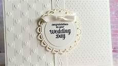 how to make an elegant ivory wedding card diy crafts