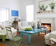 Create Contrast By Adding A Pop Of Color To A White Decor