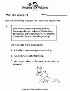 main idea practice worksheet free printable educational worksheet