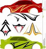 Vehicle Graphics Stripe  Vinyl Ready Stock Illustration