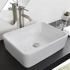 new ceramic bathroom sink porcelain vessel bowl with popup drain combo ebay