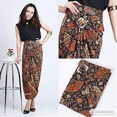 jual rok lilit serut r040 batik motif kipas good quality wrap bawahan kebaya encim dan