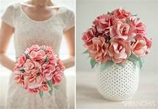 diy paper rose bridal bouquet