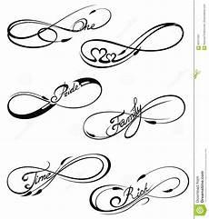Unendlichkeitszeichen Vorlage - infinity symbols stock vector illustration of space