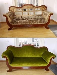 Vorher Nachher Bilder Sofa Neu Polstern Und Restaurieren