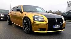 chrom gold dodge magnum srt8 revs lovely sounds hd youtube