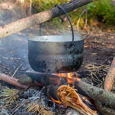 the forest feuerstelle pot hanging the stock image image of trip