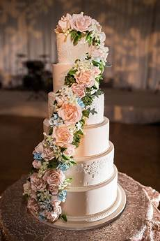custom cake spotlight cascading sugar floral wedding cake