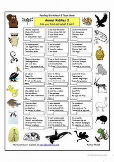 esl riddles worksheets 10892 animal riddles 3 worksheet free esl printable worksheets made by teachers