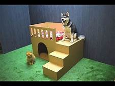 How To Make Puppy Dog House From Cardboard  YouTube