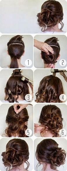 Schnelle Frisuren Braune Haare Hochsteckfrisur Selber