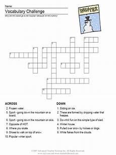 winter crossword worksheets 19981 can be esl teaching practice resources