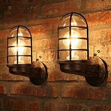 vintage industrial unique wall light iron cafe shop restaurant bar wall l sale banggood com