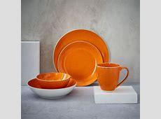 Alta Reactive Glaze Dinnerware Set   Orange   west elm