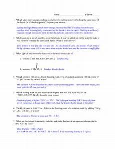 colligative properties worksheet ii answer key 11 12