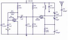 Fm Transmitter Circuit Diagram Schematic by Fm Transmitter With Two Transistor Audio Wiring Diagram