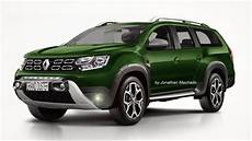 Dacia Grand Duster - render renault grand duster 7 lugares 7 seater