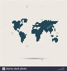 simple style pixel icon continents vector design stock vector art illustration vector image