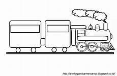 Gambar Mewarnai Kereta Api Sederhana Untuk Anak Paud Dan Tk