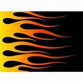 Hot Rod Flames Stencil Racing Flame Clip Art Vector