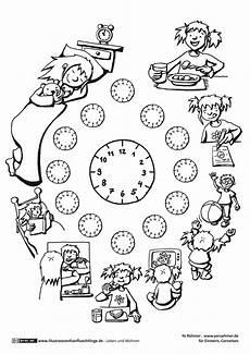 tagesablauf uhrzeit uhrzeit lernen uhrzeit grundschule uhr