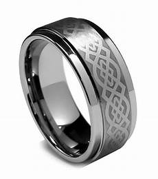 8mm mens tungsten ring wedding band celtic ring step high polish finish and edge ebay