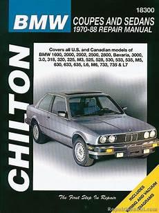 free service manuals online 2002 bmw 530 parental controls chilton bmw coupes and sedans 1970 1988 repair manual