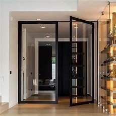 porte d entrée en metal custom made pivoting doors with 360 176 central or offset