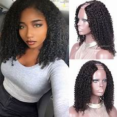 u part wig brazilian hair tight curly wig natural color