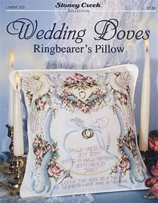 wedding doves ringbearer s pillow counted cross stitch pattern