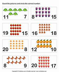 count pictures up to twenty worksheet turtle diary