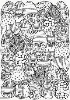 Ausmalbilder Ostern A4 Pattern For Coloring Book Handdrawn Easter Eggs A4 Size