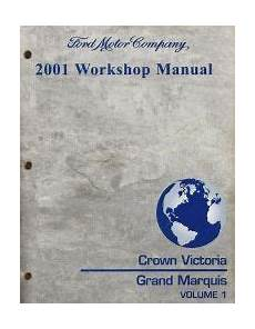 auto repair manual free download 2001 mercury grand marquis interior lighting 2001 ford crown victoria mercury grand marquis workshop manual 2 volume set