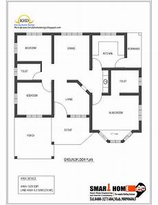 single level house plans single floor house plan and elevation 1320 sq ft