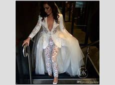 Discount Long Sleeves Lace Jumpsuit Wedding Dresses 2017