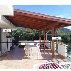 coperture terrazzo in legno copertura laterale di un gazebo in legno su terrazzo