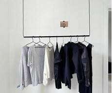 Wandfarbe Aus Klamotten - skandinavische kleiderstange ideen f 252 r 2018