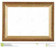 wide gold picture frame stock photo image of framework