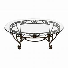 Cast Iron And Glass Coffee Table
